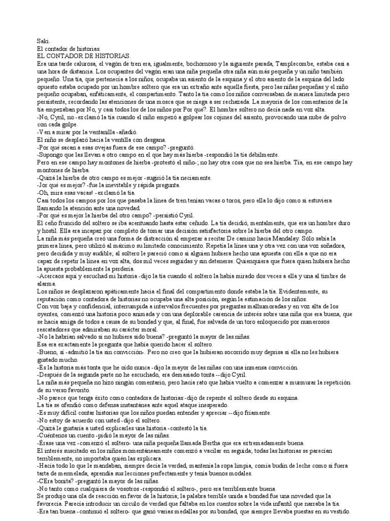 Saki - El Contador de Historias y otros relatos