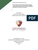 ANÁLISIS DE POLÍTICAS PUBLICAS DISTRITALES E IMPLICACIONES JURÍDICAS DEL BULLYING ESCOLAR EN LA INSTITUCIÓN DISTRITAL EDUCATIVA SIMÓN BOLIVAR DEL BARRIO CEVILLAR8