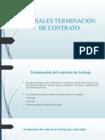 CAUSALES TERMINACIÓN DE CONTRATO DIAPOSITIVAS