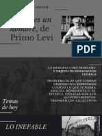 Literatura y Shoah- Primo Levi