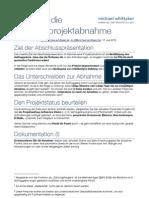 Softwareprojektabnahme - Hinweise für Auftragsgeber