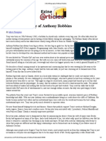 A Brief Biography of Anthony Robbins