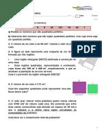Ficha de trabalho -raiz quadrada e cúbica