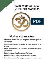 SECUENCIA DE MUDRAS PARA VOCALIZAR LOS BIJA MANTRA