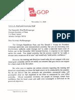 Doug Collins GA Deficiency Letter 1 (11/12/2020)