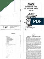 Lucas CAV DPA Injection Pump Instruction Book