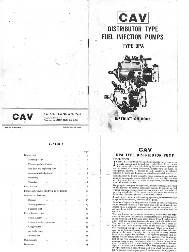 Cav Lucas Diesel Injection Pump Identify Manual