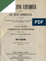 Em Swedenborg L'APOCALYPSE EXPLIQUEE TomeCinquieme Chapitres XII Et XIII Numeros 705 847 LeBoysDesGuays 1858