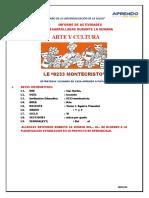 MODELO DE INFORME SEMANAL DE ACTIVIDADES DEL ÁREA DE ARTE