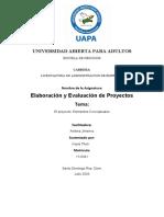 Elaboracion y evaluacion de proyectos- Tarea 1