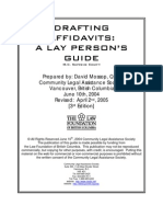 Drafting Affidavits- A Lay Persons Guide
