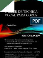 TALLER DE TECNICA VOCAL PARA COROS 4