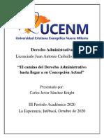 Ensayo - Derecho Administrativo - Carlos Sánchez