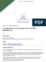 Cameroun, Cour suprême, 29 avril 2014, 005_SSP_CS.pdf