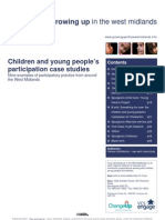 Children and young people's participation case studies