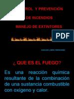 Prevención de incendios y manejo de Extintores