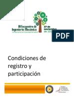 Condiciones de Registro y Participacioìn