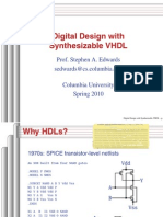 Digital Design With Synthesizable VHDL