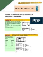 Protocole Sous Casio 25
