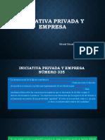 Iniciativa privada y empresa