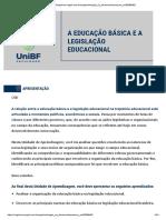 A educação básica e a legislação educacional