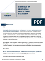 Histórico da legislação educacional brasileira