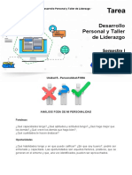 UNIDAD 5-TAREA DESARROLLO.P Personalidad FODA