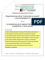 06 - La enseñanza de la Iglesia Católica sobre la población y otros temas