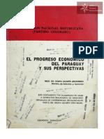 El Progreso Económico del Paraguay y sus perspectivas, año 1977