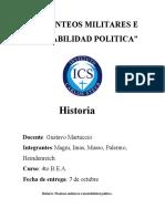 PLANTEOS MILITARES E INESTABILIDAD POLITICA
