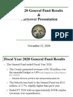 FY 2020 Carryover Presentation 111220