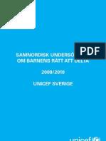 Samnordisk undersökning om barnens rätt att delta - endast Sverige
