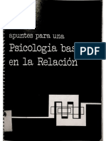 Jorge L. Tizón García. Apuntes para una psicología basada en La relación