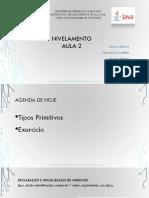 Nivelamento Introdução à Programação Java - Aula 02
