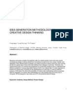 IDEA GENERATION METHODOLOGY FOR CREATIVE DESIGN THINKING