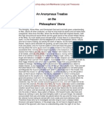 An Anonymous Treatise on the Philosophers Stone (13 pgs)