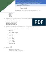 Tarea No.3 - Matemática II
