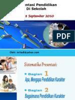 Implementasi Pendidikan Karakter Di Sekolah