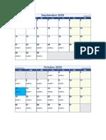 calendario por grupos