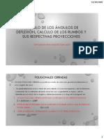 Calculo de los ángulos de deflexión, calculo rumbos y proyecciones
