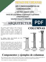 columnas, capital y otros sistemas constructivos similares