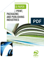 PEFC Certified Paper for the Print, Packaging, and Publishing Industries
