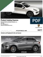 Product Trainig Cayenne Tequipment