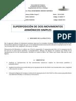 INFORME SUPERPOSICIÓN DE MOVIMIENTOS ARMONICOS SIMPLES