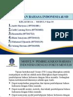 PPT Modul 9 dan 10 Bahasa indonesia PDGK 4204