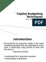 Capital Budgeting Techiques