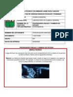 Sesión 4. PRACTICA DE LABORATORIO N°4 PROPIEDADES FISICAS Y CAMBIOS DE ESTADO