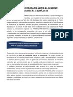 RESUMEN Y COMENTARIO SOBRE EL ACUERDO PLENARIO - LESLYE