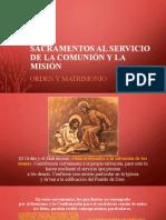 13. Sacramentos al servicio de la comunión y la misión