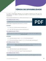 441-4. Critérios de Divisibilidade